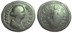 Ancient Coins - Faustina Junior, Augusta, 147-175 AD. Æ Sestertius, Fecunditas Reverse