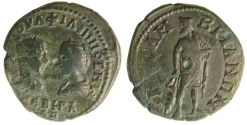 Ancient Coins - Thrace, Mesembria. Philip I, with Otacilia Severa. AD 244-249. Æ 25