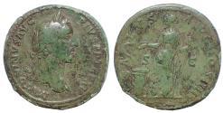 Ancient Coins - Antoninus Pius. AD 138-161. Æ Sestertius.