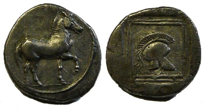 Ancient Coins - Kings of Macedon: Perdikkas II, 451-413 BC. AR Light Tetrobol. Rare, EF