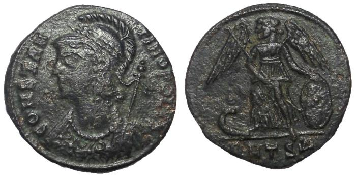 Ancient Coins - Constantine I, 306-337 AD.  AE Commemorative Follis