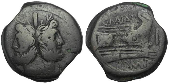 Ancient Coins - C. Maianius, ca 153 BC.AE As