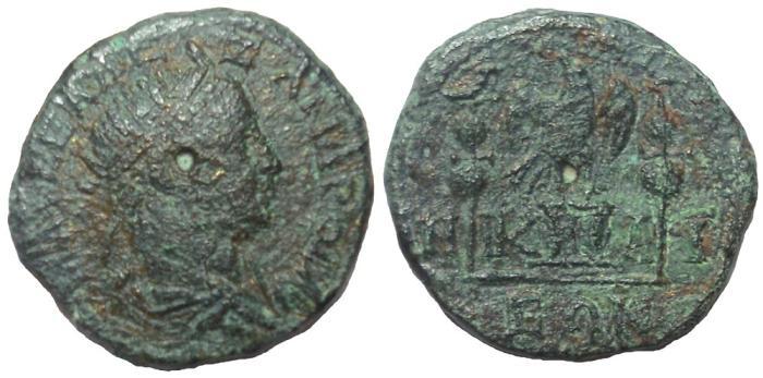 Ancient Coins - Nicaea, Bithynia: Severus Alexander, 222-235 AD. Æ 19 mm, Scarce