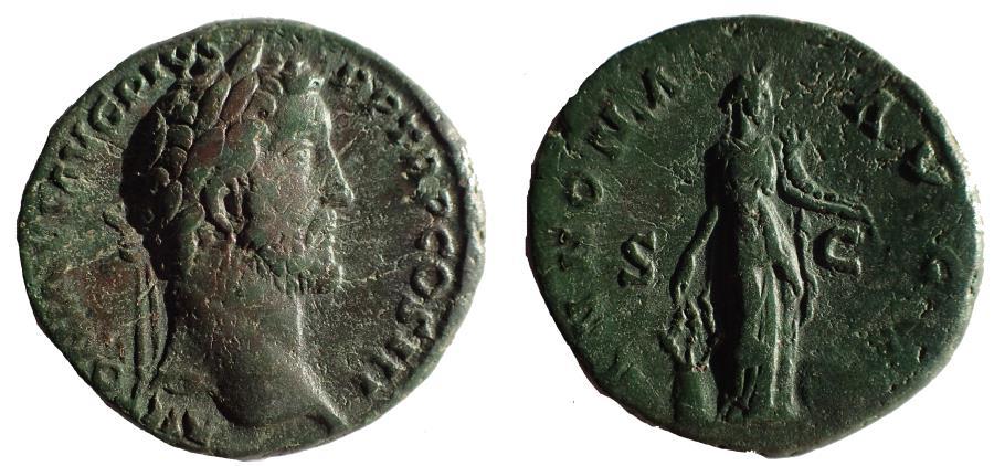 Ancient Coins - Antoninus Pius. AD 138-161. Æ As