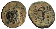 Ancient Coins - Antiochos IV Epiphanes. 175-164 BC. Æ 17