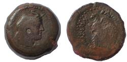 Ancient Coins - Ptolemaic Kings of Egypt. Ptolemy VI Philometor. First reign, 180-164 BC. Æ Penthemiobol. Very Rare.
