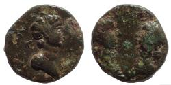 Ancient Coins - Mysia. Kyzikos. Britannicus with Antonia and Octavia AD 41-55. Æ 13. Very Rare.