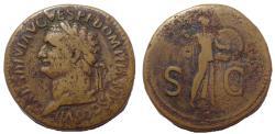 Ancient Coins - Domitian. As Caesar, AD 69-81. Æ Sestertius