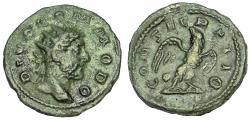 Ancient Coins - DIVUS COMMODUS. Died AD 192. AE Commemorative Antoninianus, c 3rd century Rare.
