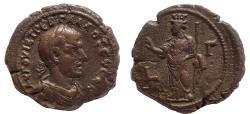 Ancient Coins - Egypt, Alexandria. Trebonianus Gallus. AD 251-253. BI Tetradrachm. Rare.