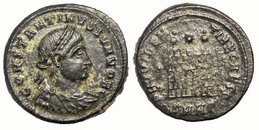 Ancient Coins - Constantine II, as Caesar, 317-337 AD, AE Follis