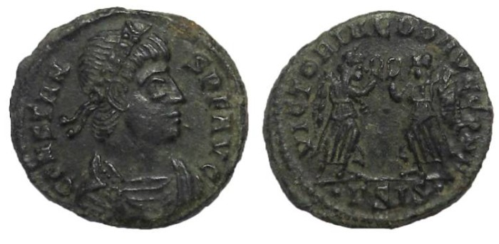 Ancient Coins - Constans, 337-350 AD.  AE Follis