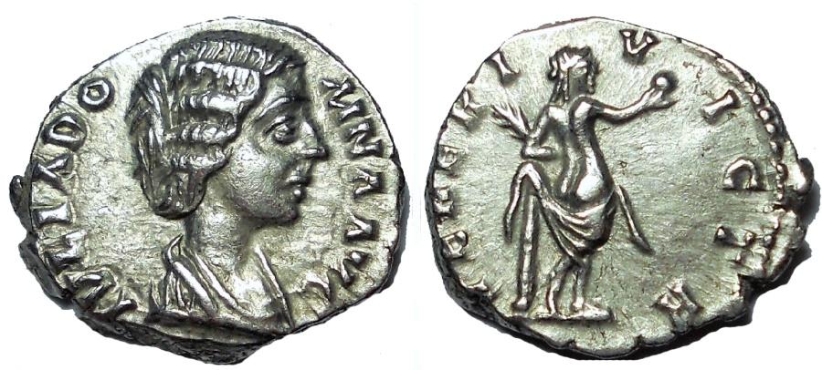 Ancient Coins - Julia Domna, AD 193-217. AR denarius