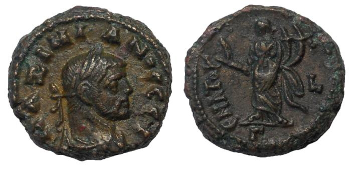 Ancient Coins - Egypt, Alexandria: Maximianus I, 286-305 AD. Billon Tetradrachm.  Bold EF