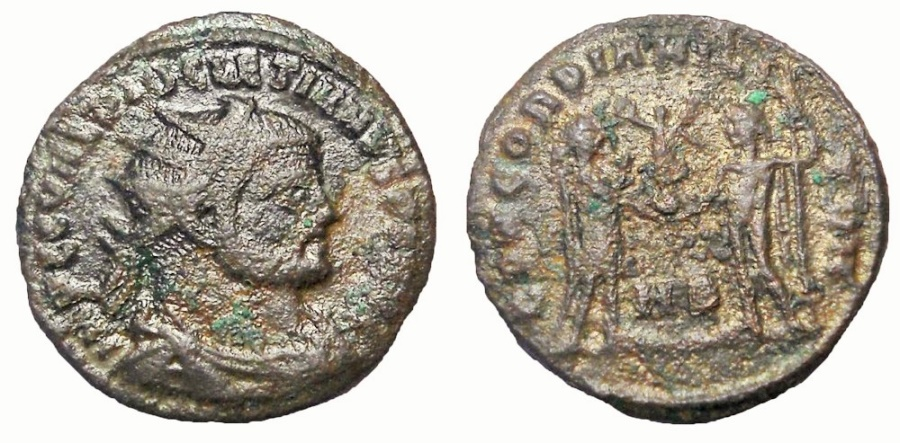 Ancient Coins - Diocletian, 293-294 AD. Æ Antoninianus
