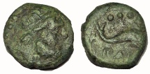 Ancient Coins - Lucania, Paestum. After 180 BC. Æ Quadrans