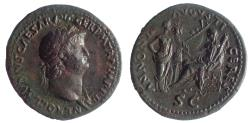 Ancient Coins - Nero, 54-68 AD. AE Sestertius, Pedigreed to 1962