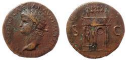 Ancient Coins - Nero (AD 54-68). AE sestertius