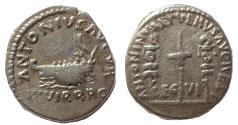 Ancient Coins - Marcus Aurelius and Lucius Verus. AD 161-169. AR Denarius. Actium 200th anniversary. Rare.