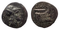 Ancient Coins - Kings of Macedon. Salamis. Demetrios I Poliorketes 306-283 BC. AE 17