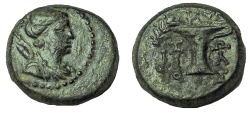 Ancient Coins - AEOLIS, Kyme. Circa 165-early 1st century BC. Æ 15