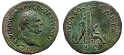 Ancient Coins - Vespasian (69-79), Sestertius, JUDAEA CAPTA