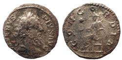 Ancient Coins - Septimius Severus, AD 193-211, Ar plated denarius. Unpublished die combination.