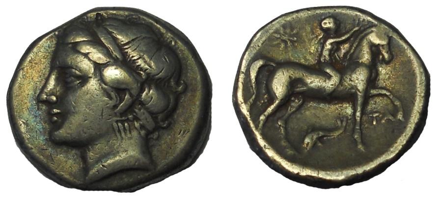 Ancient Coins - Italy. Calabria. Tarentum. AR Nomos