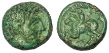 Ancient Coins - Kings of Macedon: Philip II, father of Alexander, 359-336 BC. Æ 17 mm