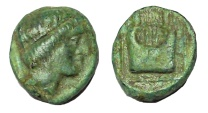 Ancient Coins - Ionia, Colophon, circa 385-285 BC. Ae 10