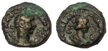 Ancient Coins - Egypt, Alexandria. Aurelian and Vabalathus 270-275 AD. BI Tetradrachm