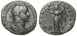Ancient Coins - Severus Alexander, 222-235 AD. Æ Sestertius, Victory Reverse