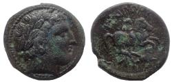 Ancient Coins - Kings of Thrace. Lysimachos, 305-281 BC. AE 20