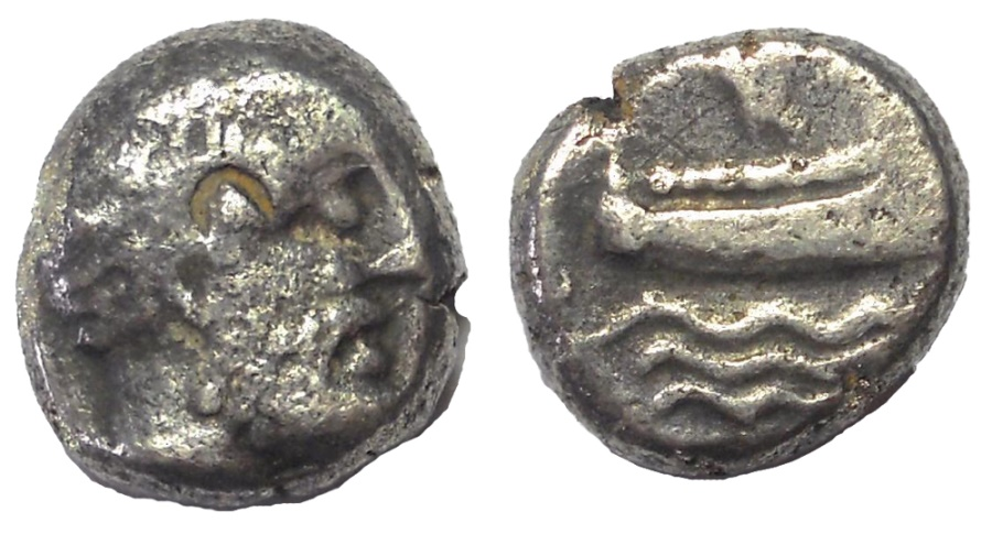 Ancient Coins - Arados, Phoenicia, ca. 400-350 BC. AR Silver 1/3 Stater