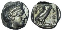 ATTICA, ATHENS. CIRCA 454-404 BC. AR TETRADRACHM