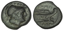 Ancient Coins - ANONYMOUS. AFTER 211 BC. Æ TRIENS