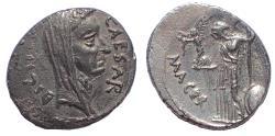 Ancient Coins - Julius Caesar, Ar denarius, January-February 44 BC. Lifetime issue.