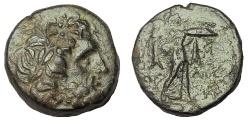 Ancient Coins - KINGS of MACEDON. Demetrios I Poliorketes.306-283 BC. Æ 19, Rare