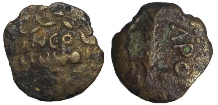 Ancient Coins - Porcius Festus, 59-62 AD, Procurator under Nero.  AE Judaean Prutah