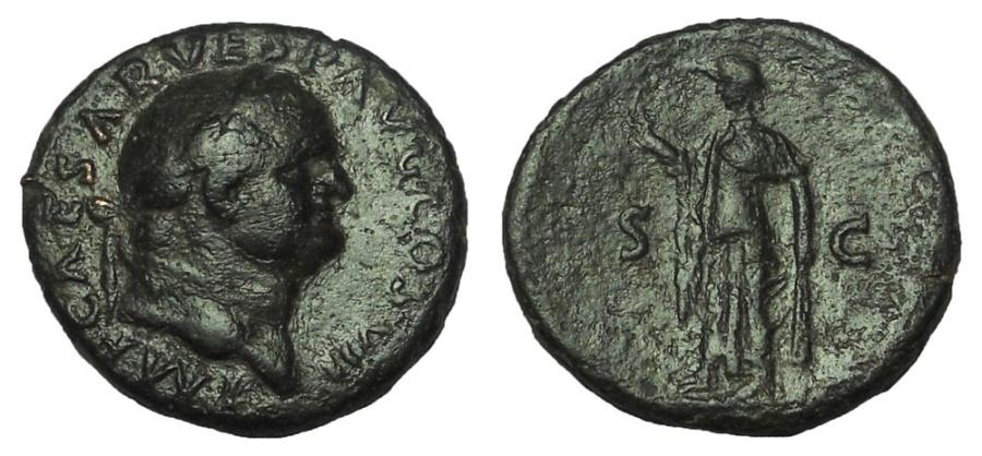 Ancient Coins - Vespasian, 69-79 AD. Æ As