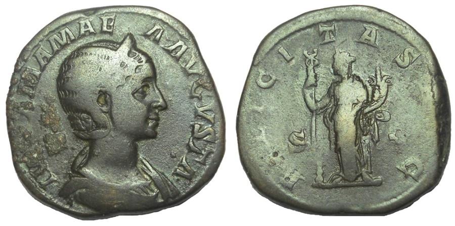 Ancient Coins - JULIA MAMAEA, AUGUSTA, 222-235 AD. Æ SESTERTIUS