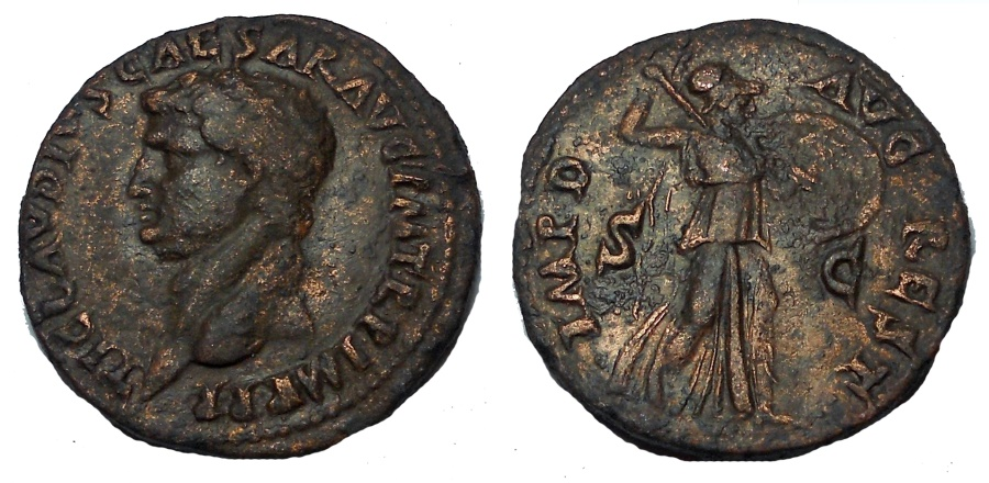 Ancient Coins - Claudius (Domitian, 81-96), Restitution As, Rome, AD 81-82