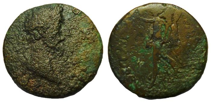 Ancient Coins - Commodus, 177-192 AD. Thessalonica, Æ 23 mm.  Nike Reverse