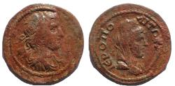Ancient Coins - Cilicia, Hieropolis-Kastabala c. 2nd century AD. AE 27, Alexander the great, Rare.