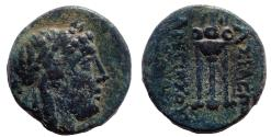 Ancient Coins - Seleukid Kings. Antiochos II Theos. 261-246 BC. Æ 16