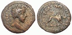 Ancient Coins - Thrace, Philippopolis: Commodus, 180-192 AD. Æ 20 mm.  Lion Reverse