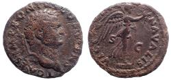 Ancient Coins - Titus. As Caesar, AD 69-79. Æ As, Victory Navalis. Rare.