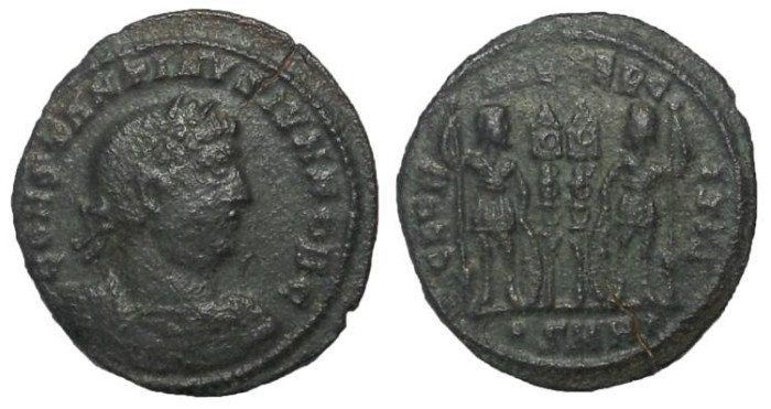 Ancient Coins - Constantine II, as Caesar, 317-337 AD.  AE Follis