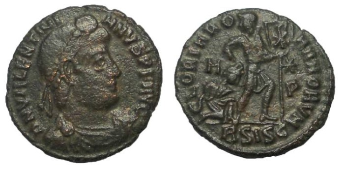 Ancient Coins - Valentinian I, 364-375 A.D.  Bronze AE 3
