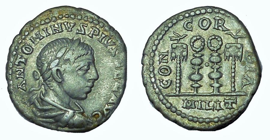 Ancient Coins - Elagabalus. AD 218-222. AR Denarius